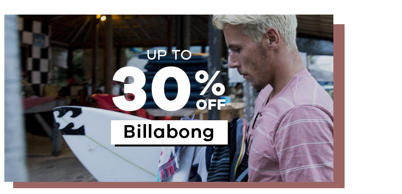 Up to 30% off Billabong