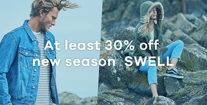 At least 30% off new season SWELL